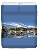 Boats In Winchester Bay Duvet Cover
