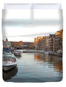 Boats Of Amsterdam Duvet Cover