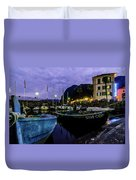 Boats Of The Lake Duvet Cover