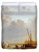 Boats On A River Duvet Cover