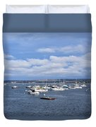 Boats On Blue Water Duvet Cover