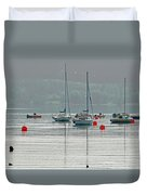 Boats On Carsington Water Duvet Cover
