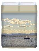 Boats On Lake Champlain Vermont Duvet Cover