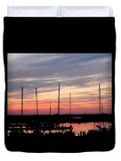 Boats On The Bay Duvet Cover