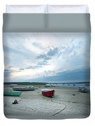 Boats On The Beach Duvet Cover