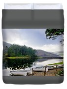 Boats On The Shore. Duvet Cover