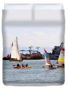 Boats Race Duvet Cover