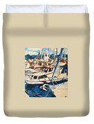 Boats Duvet Cover