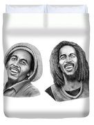Bob And Bob Marley Duvet Cover