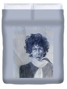 Bob Dylan In The Rock Years Duvet Cover