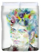 Bob Dylan - Watercolor Portrait.4 Duvet Cover