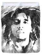 Bob Marley Bw Portrait Duvet Cover