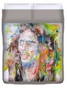 Bob Marley - Watercolor Portrait.17 Duvet Cover