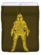 Boba Fett - Star Wars Art, Yellow Duvet Cover