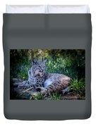 Bobcat In The Grass Duvet Cover