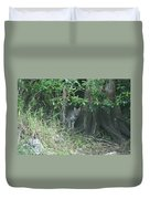 Bobcat In The Everglades Duvet Cover