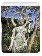 Boddhisattva Buddhist Deity - Kyoto Japan Duvet Cover