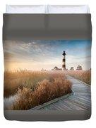 Bodie Island Lighthouse Cape Hatteras National Seashore North Carolina Duvet Cover