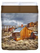 Bodie Stamp Mill, Sunrise With A Dusting Of Snow Duvet Cover