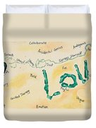 Body Prints Foundation Of Love Duvet Cover