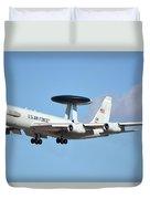 Boeing E-3b 71-1407 Sentry Phoenix Sky Harbor January 9 2015 Duvet Cover