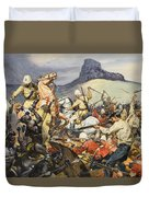 Boers And Natives Duvet Cover