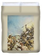 Boers Fighting Natives Duvet Cover
