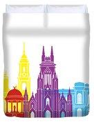 Bogota Skyline Pop Duvet Cover