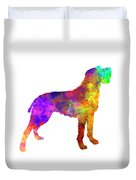 Bohemian Wirehaired Pointing Griffon In Watercolor Duvet Cover