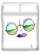 Boho Gypsy Daisy Field Sunglasses Reflection Design From The Aroon Melane 2014 Collection By Madart Duvet Cover