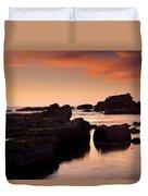 Boiler Bay Sunset Duvet Cover