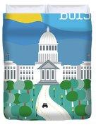 Boise Idaho Vertical Skyline Duvet Cover