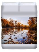 Boise River Autumn Glory Duvet Cover