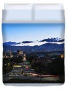 Boise Skyline In Early Morning Hours Duvet Cover