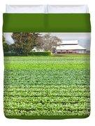 Bok Choy Field And Farm Duvet Cover