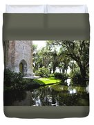 Bok Tower With Moat Duvet Cover