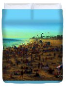 Bokeh Beach Duvet Cover