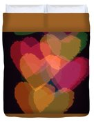 Bokeh Hearts 1 Duvet Cover