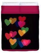 Bokeh Hearts 2 Duvet Cover