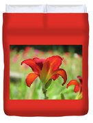 Bold Red - Daylily Duvet Cover
