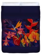 Bold Tropical Flowers Duvet Cover