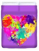 Bold Watercolor Heart - Tee Shirt Design Duvet Cover