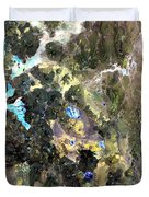 Bolivian Andes From Space Duvet Cover