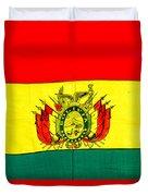 Bolivian Flag Duvet Cover