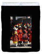 Bolivian Typical Costume Duvet Cover
