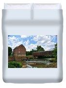 Bollinger Mill And Covered Bridge Duvet Cover