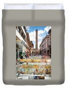 Bologna Artworks Of The City Hanging In  Duvet Cover