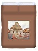 Bologna, Italy San Petronio Basilica Facade Crescentone Duvet Cover