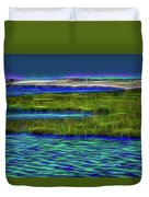 Bolsa Chica Wetlands I Abstract 1 Duvet Cover