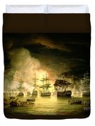 Bombardment Of Algiers Duvet Cover by Thomas Luny